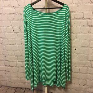 Long sleeve long length tshirt-green